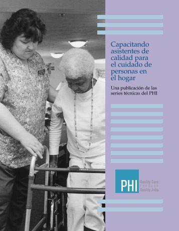 Capacitando asistentes de calidad para el cuidado de ... - PHI
