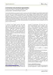 La formazione nel contratto di apprendistato - Centro Studi Lavoro e ...