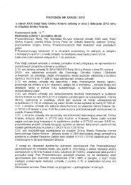 PROTOKÓŁ NR XXIX/29 / 2012 - Krasne, Urząd Gminy