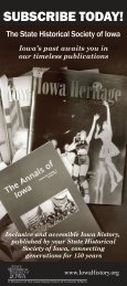 Subscribe now! - State Historical Society of Iowa