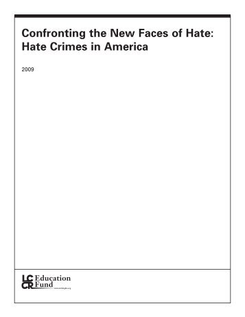 Confronting the New Faces of Hate - Alberta Hate Crimes Committee