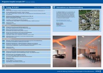 Programm 2011 - hospital concepts mobile 2012