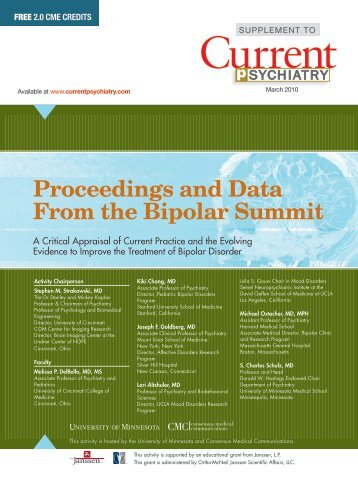 Proceedings and Data From the Bipolar Summit - The Journal of ...