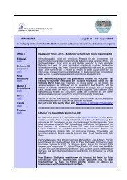 NEWSLETTER Ausgabe 28 – Juli / August 2007 Dr. Wolfgang ...