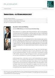 IMMATERIAL- OG KONKURRENCERET - Plesner