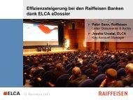 Effifzienzsteigerung bei den Raiffeisen Banken - ECM Lounge