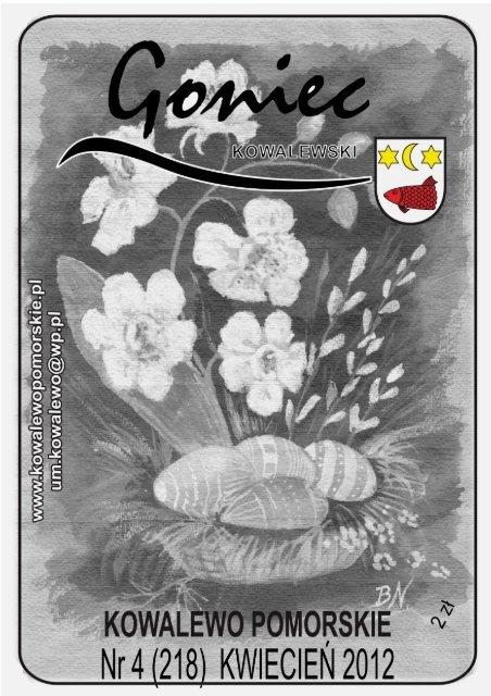 Goniec Kowalewski Kwiecieå 2012 Gmina Kowalewo Pomorskie
