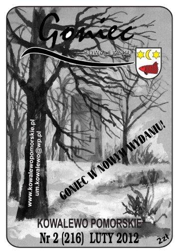 """""""Goniec Kowalewski"""" Luty 2012 - Gmina Kowalewo Pomorskie"""