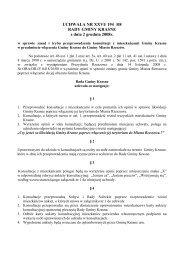 UCHWAŁA NR XXVI/ 194 /08 RADY GMINY KRASNE z dnia 2 ...