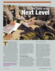Joint Intelligence Operations Next Level - Defense Technical ...