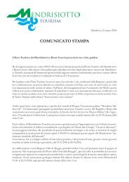 L'Ente Turistico del Mendrisiotto e Basso Ceresio presenta le sue ...