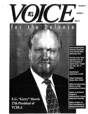 March 1997 - Voice For The Defense Online