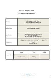 Specyfikacje techniczne - Gmina Kowalewo Pomorskie