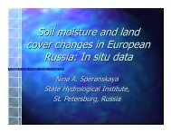 Soil moisture and land cover changes in European Russia ... - NEESPI