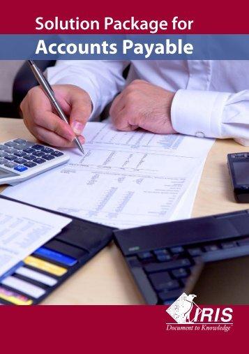 Download the Accounts payable management brochure - IRIS ECM