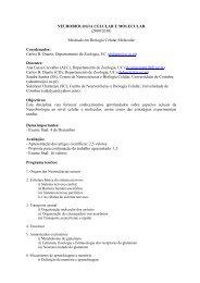 NEUROBIOLOGIA CELULAR E MOLECULAR - Universidade de ...