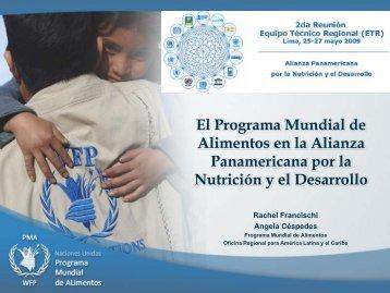 Programa Mundial de Alimentos en la Alianza ... - BVSDE