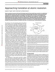 Approaching translation at atomic resolution.pdf - Physiology and ...