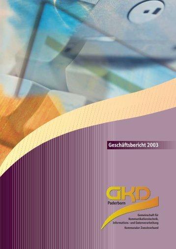 Geschäftsbericht 2003 - GKD Paderborn