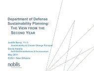 Department of Defense Sustainability Planning: - E2S2
