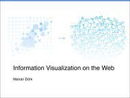 Information Visualization on the Web - InnoVis