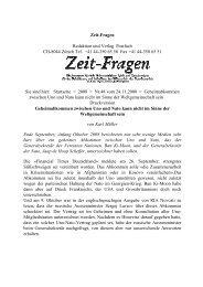 Zeit-Fragen Redaktion und Verlag Postfach CH-8044 Zürich Tel. + ...