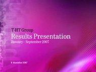Results Presentation - T-Hrvatski Telekom