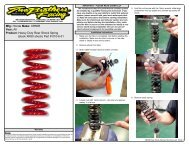 Rear-Shock-Spring Instructions - Two Brothers Racing