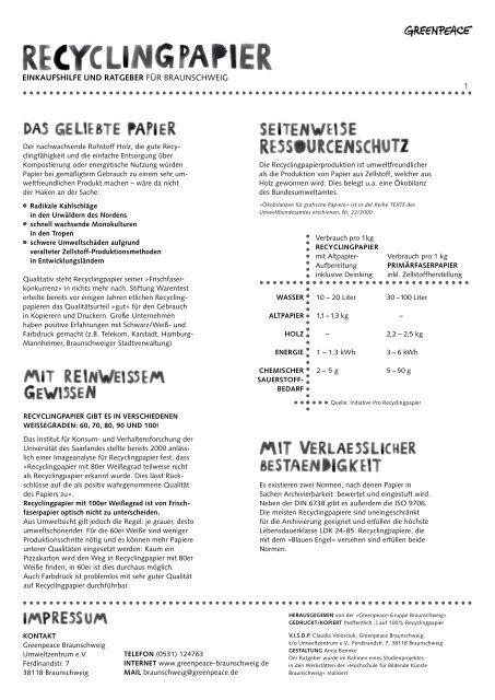 Einkaufshilfe Und Ratgeber Fãƒâ¼r Braunschweig Greenpeace