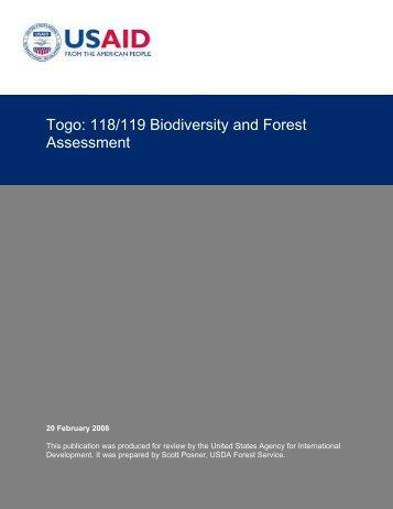 Togo - USAID: Africa Bureau: Office of Sustainable Development
