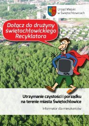 Utrzymanie czystości i porządku na terenie miasta Świętochłowice