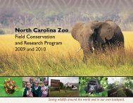 Field Conservation And Research Program - North Carolina Zoo