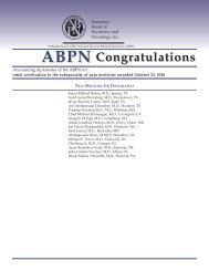 Diplomate ABPN - American Board of Psychiatry and Neurology