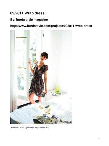 09/2011 Wrap dress - BurdaStyle.com