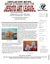 february 23, 2012 meeting janice hamilton - pastels - desoto art league