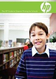 HP greener printing for schools document - Destination Green IT