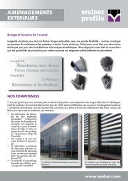 Dépliant branche Aménagement extérieurPDF ... - Welser Profile AG