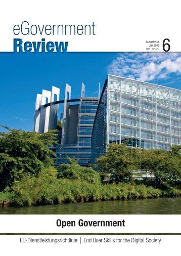 Ausgabe Nr. 6 - Juli 2010 - bei eGovernment Review