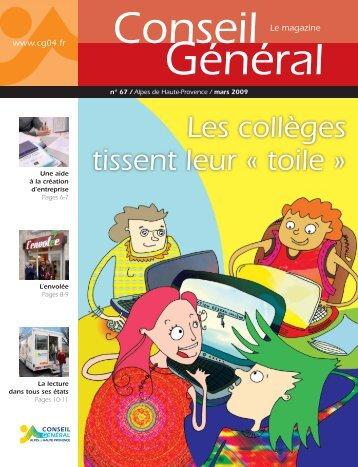 Les collèges tissent leur « toile » - Conseil Général des Alpes de ...