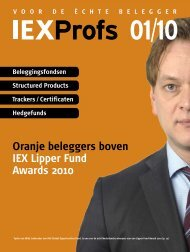 Oranje beleggers boven IEX Lipper Fund Awards 2010