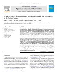 Water and nitrate exchange between cultivated ecosystems ... - Gea