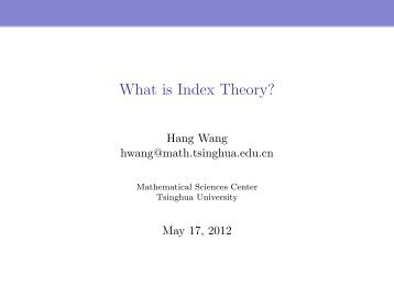 What is Index Theory?