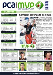 issue 5 - July 9 - The Professional Cricketers' Association