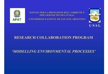 modelling environmental processes - Gea - Universidad Nacional ...