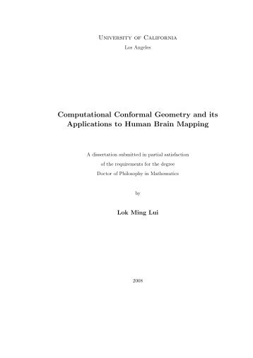 Computational Conformal Geometry and its Applications to Human ...