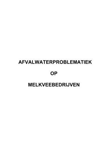 afvalwaterproblematiek op melkveebedrijven - Meetjesland.be