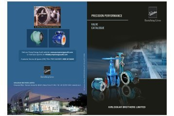 Product Catalogues - Ball Valve - Kirloskar Brothers Limited
