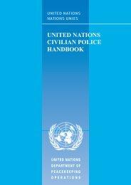 United Nations Civilian Police Handbook - Saint-claire.org