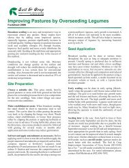 Improving Pastures by Overseeding Legumes - Nova Scotia ...