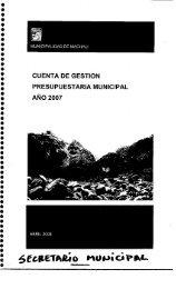 cuenta de gestión presupuestaria municipal - Ilustre Municipalidad ...